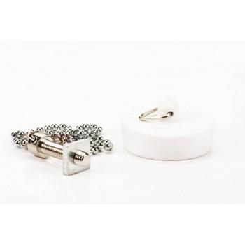 Chain Bath & Plug Set White
