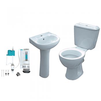 5 Piece Toilet & Bathroom Set