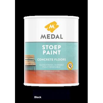 Medal Stoep Paint Black 1l