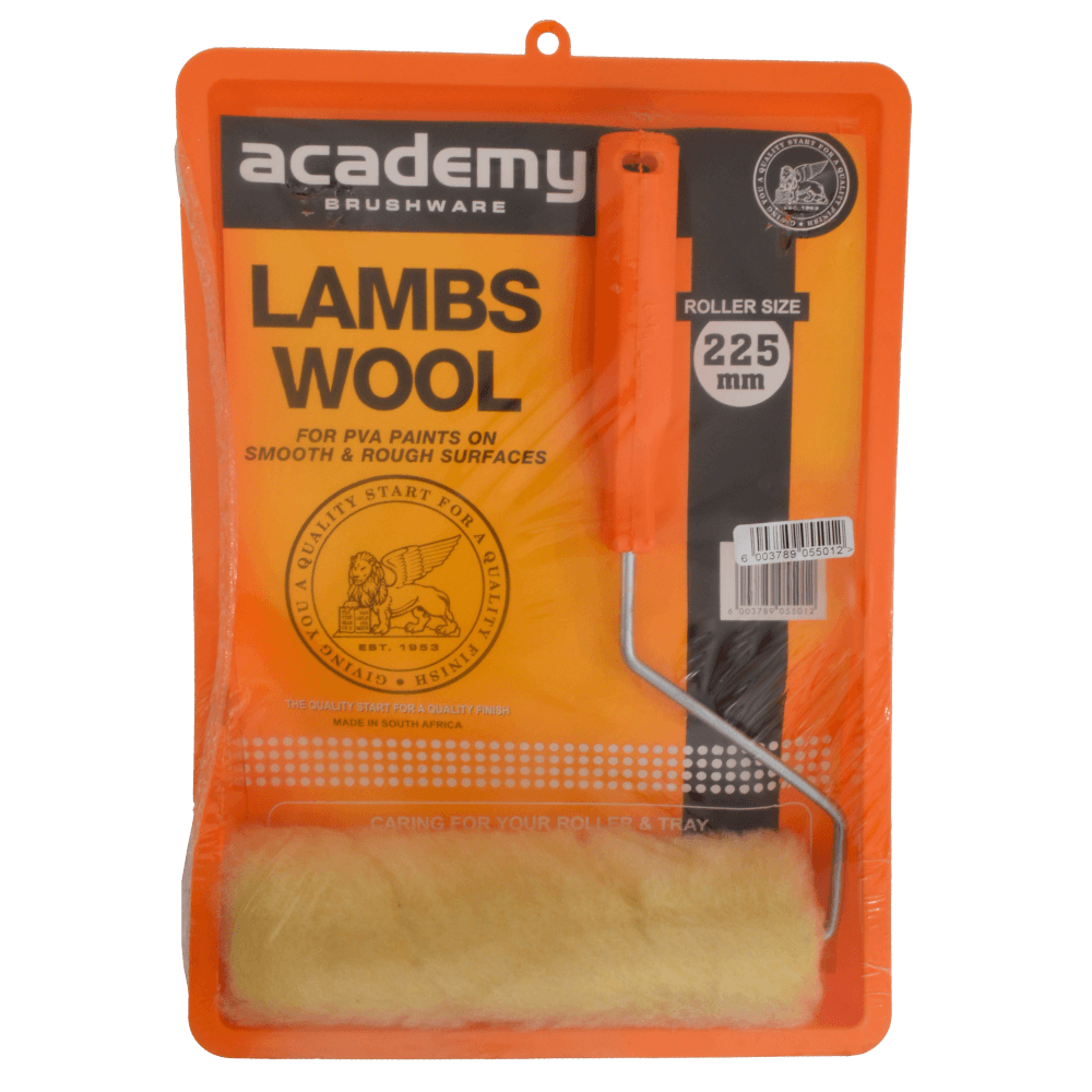 Paint Roller Tray Set Lambs Wool 225mm