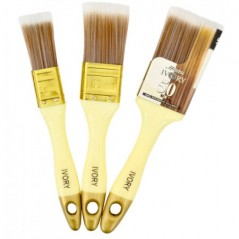 3 Piece Ivory Paint Brush Pack