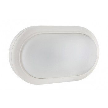 Led Oval Bulkhead 221mm White 1x15w