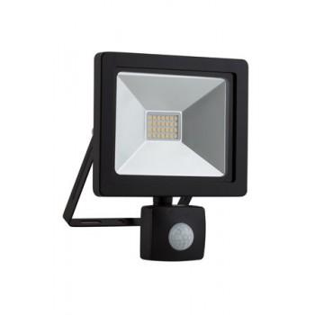 Led 20w Floodlight & Sensor Black 4000k
