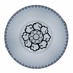 Ceiling Light Led Black/white Flower Cl0