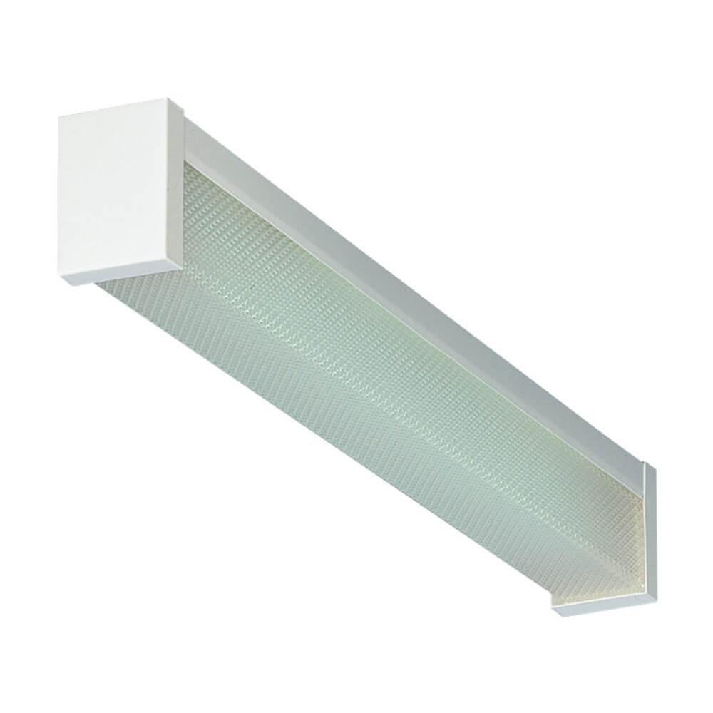 2ft Closed Fluorescent Ceiling Light White