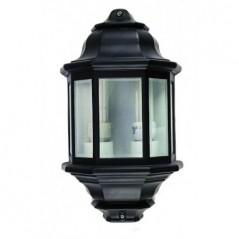 Lantern Half Bevelled Glass Black