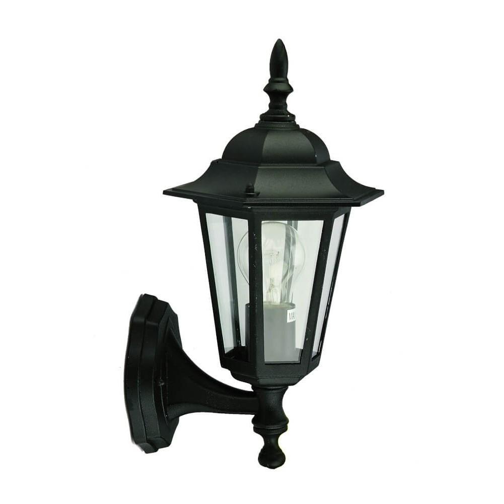 Lantern Fitting Wall Up Black