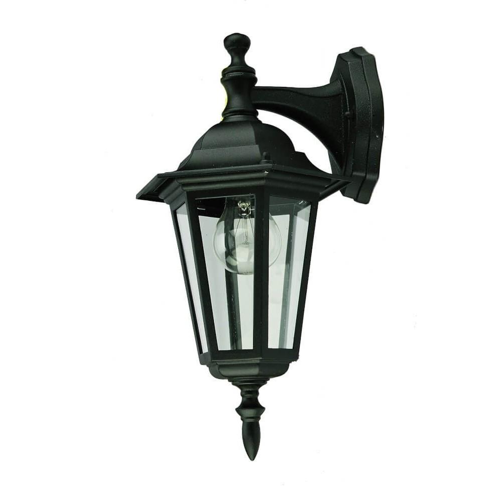 Lantern Fitting Wall Down Black