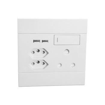 Socket 1x 16amp Dual Usb & 2x V-slim Vet