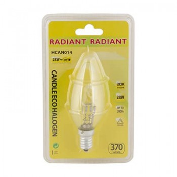 Halogen Candle Eco E14 28w Clear Blister