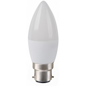 Led Candle B22 6w 5000k Frosted