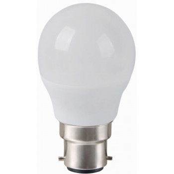 Led Golf Ball B22 6w 5000k Frosted