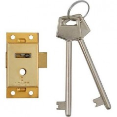 64mm Brass Cupboard Lock With 2 Keys