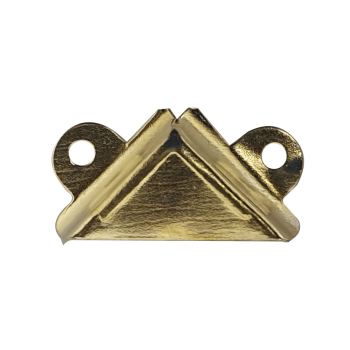 4mm Mirror Corner Brass Plated With Screws Quantity:4