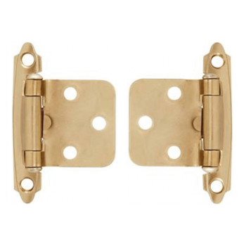 Brass Plated Self Closing Hinges With Screws Quantity:2