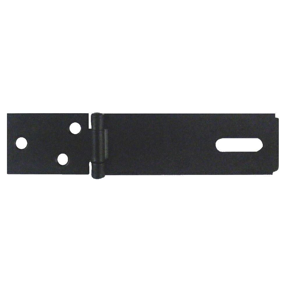 89mm Hasp & Staple Black Japan Plated
