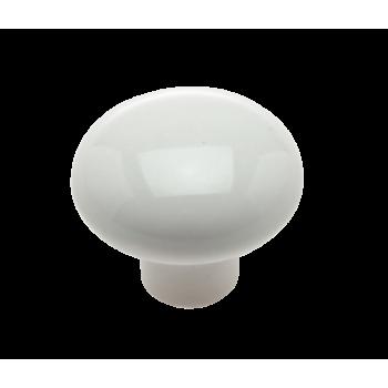 44mm White Poly Knob