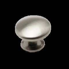 Satin Chrome Mushroom Knob