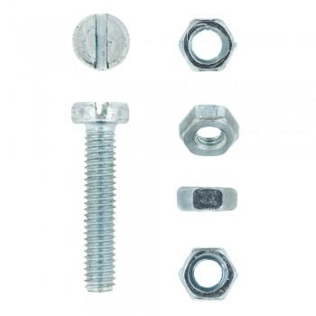 Eureka Machine Screw & Nut 4x20mm Quantity:15