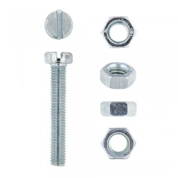 Eureka Machine Screw & Nut 5x30mm Quantity:12