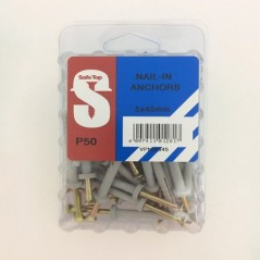 Value Pack Nail In Anchors 5mm X 45mm Quantity:50