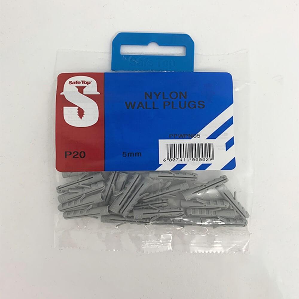 Pre Pack Wall Plugs Nylon 5mm Quantity:20
