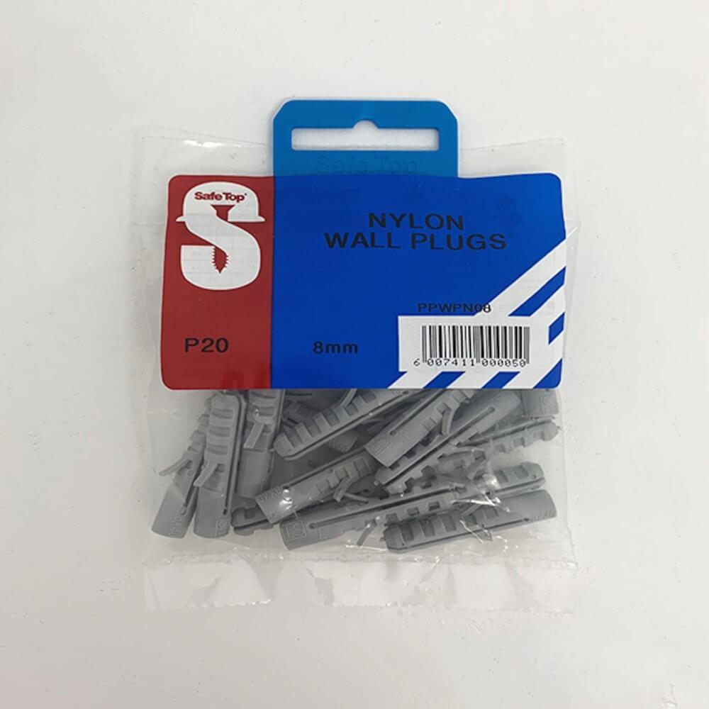 Pre Pack Wall Plugs Nylon 8mm Quantity:20