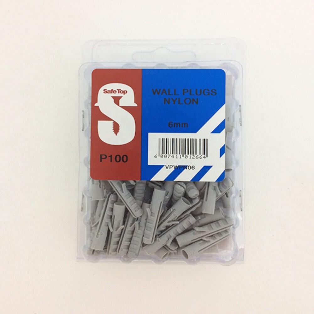 Value Pack Wall Plugs Nylon 6mm Quantity:100