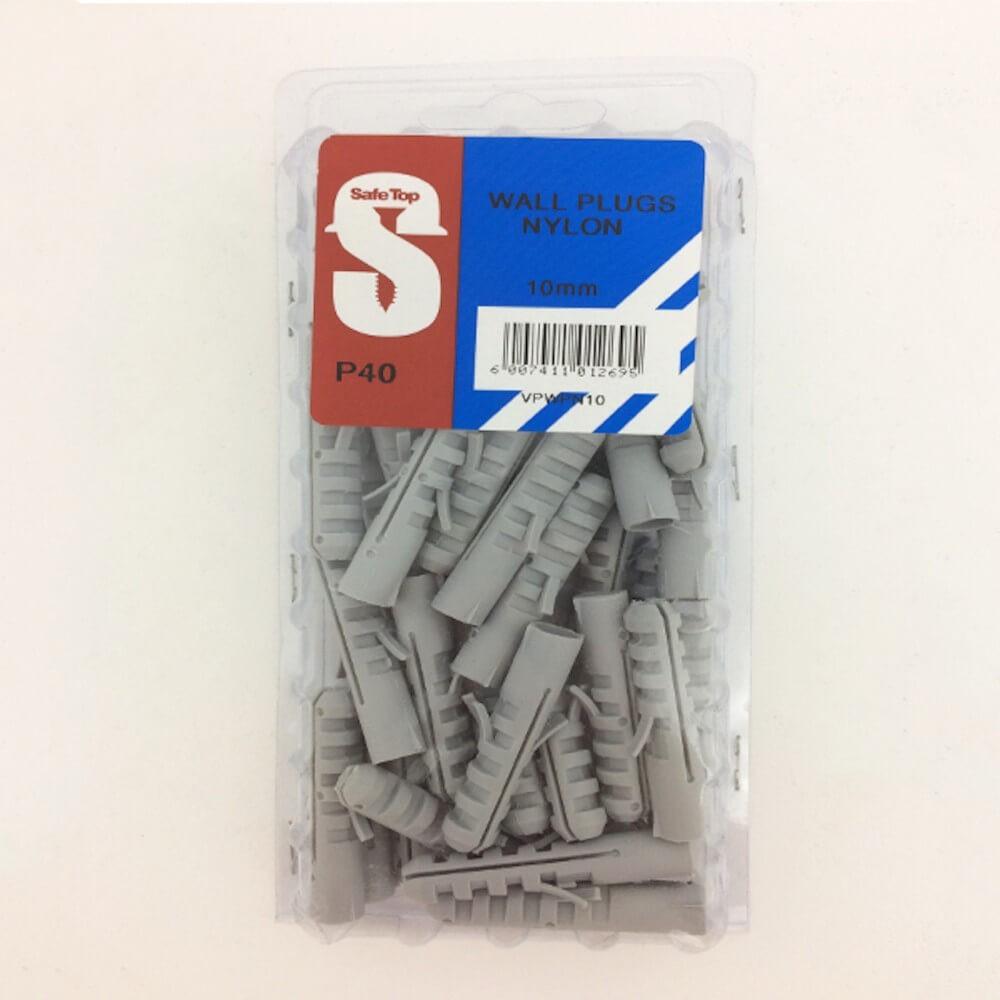 Value Pack Wall Plugs Nylon 10mm Quantity:40