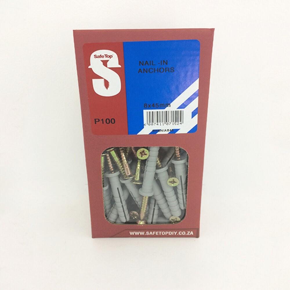 Svb Nail In Anchor 8mm X 45mm Quantity:50