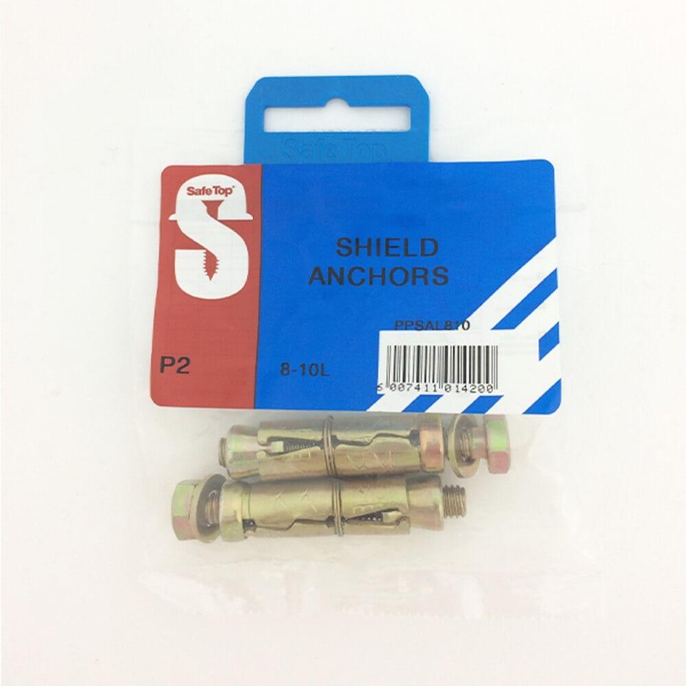 Pre Pack Shield Anchors 8-10l Quantity:2