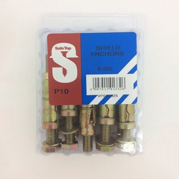 Value Pack Shield Anchors 8-25l Quantity:10
