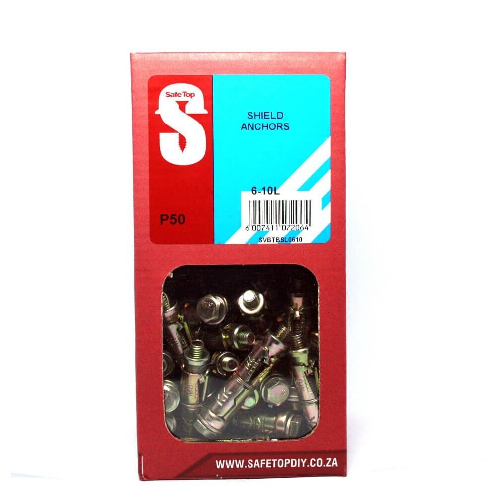 Svb Shield Anchors 6-10l Quantity:50