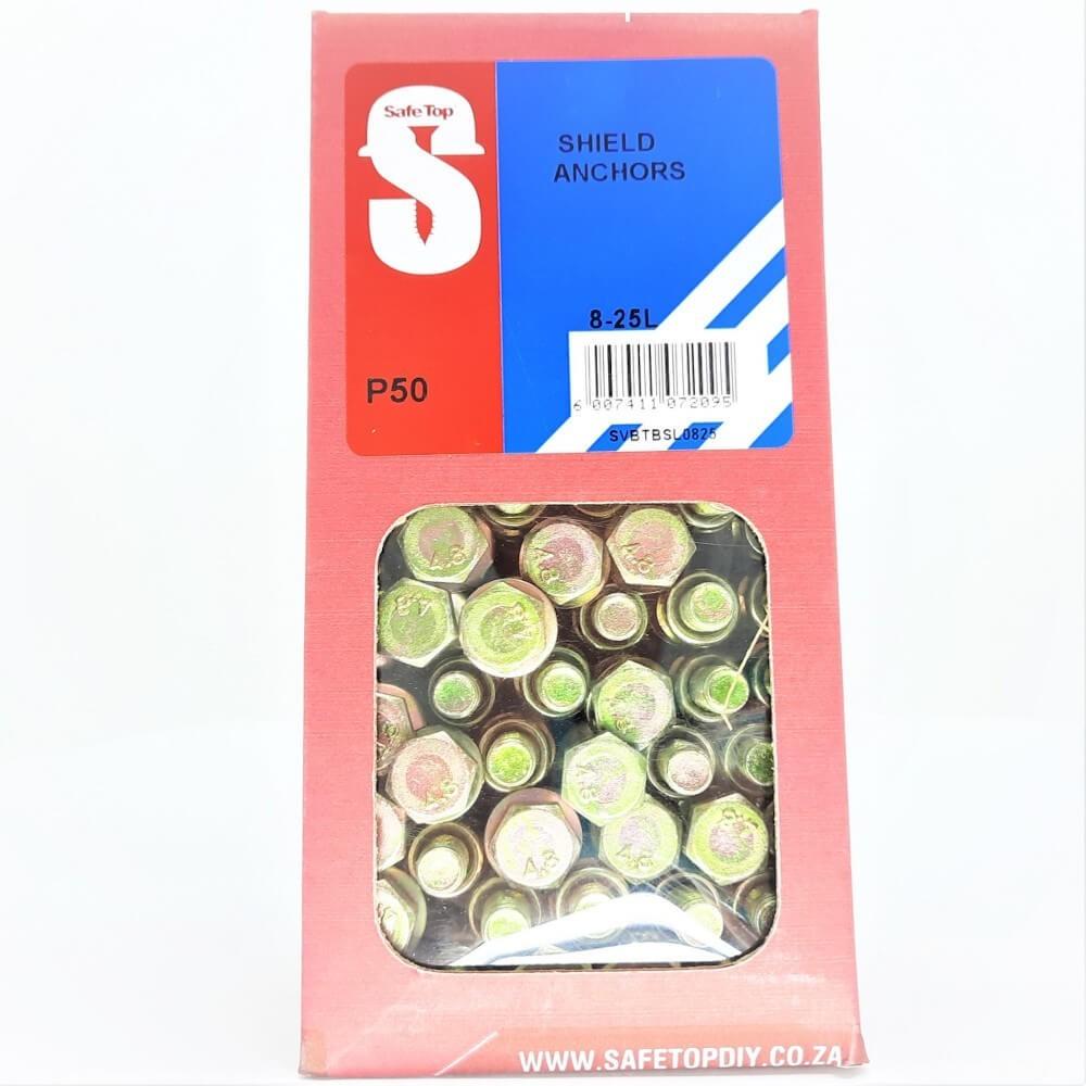 Svb Shield Anchors 8-25l Quantity:50