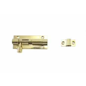 64mm Brass Straight Barrel Bolt With Screws