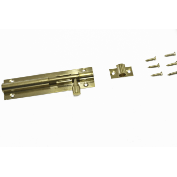 100mm Brass Straight Barrel Bolt With Screws