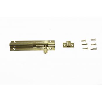 75mm Brass Straight Barrel Bolt With Screws