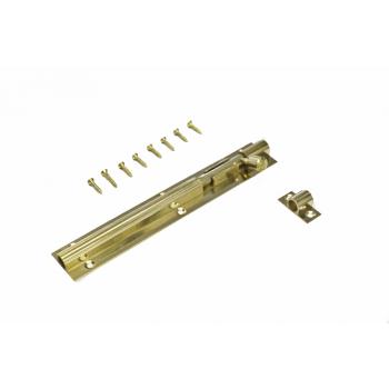 150mm Brass Straight Barrel Bolt With Screws