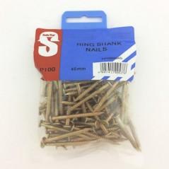 Pre Pack Ring Shank Nails 45mm X 3.55mm Quantity:100