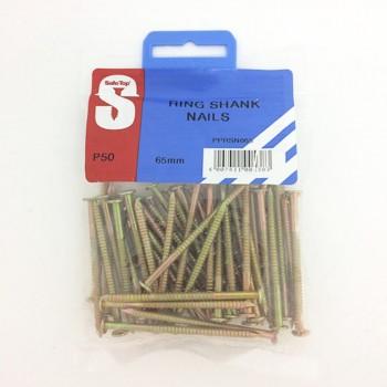 Pre Pack Ring Shank Nails 65mm X 3.55mm Quantity:50