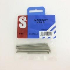 Pre Pack Masonry Nails Zp 3.5mm X 70mm Quantity:10
