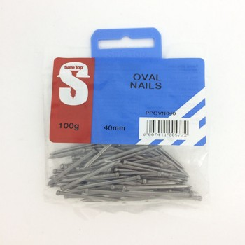 Pre Pack Oval Nails 40mm Quantity:100g