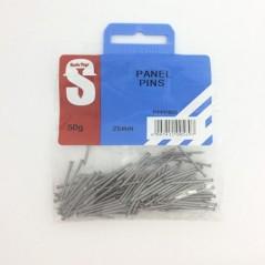 Pre Pack Panel Pins 25mm Quantity:50g