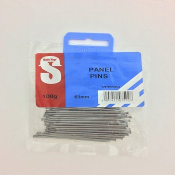 Pre Pack Panel Pins 63mm Quantity:100g