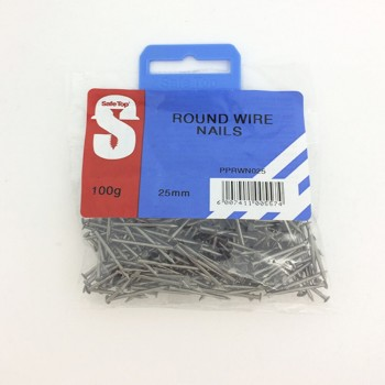 Pre Pack Round Wire Nail 25mm Quantity:100g
