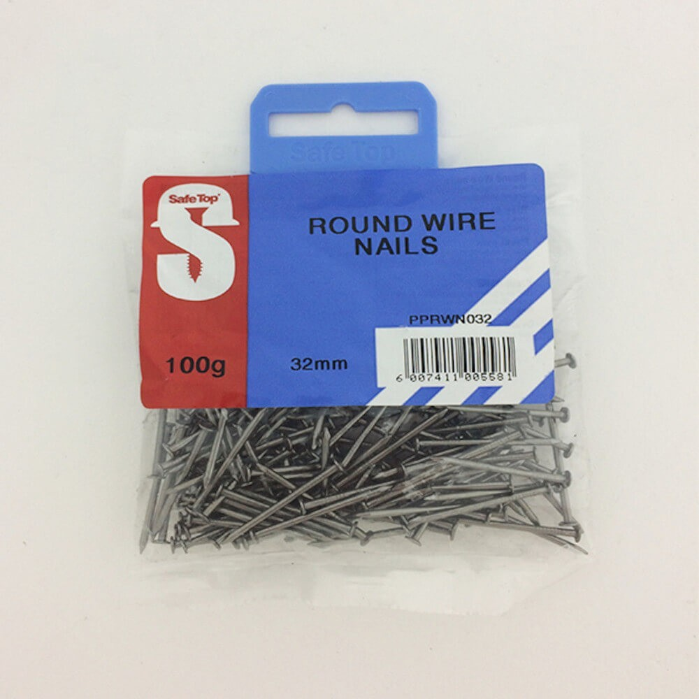Pre Pack Round Wire Nail 32mm Quantity:100g