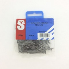 Pre Pack Round Wire Nail 40mm Quantity:100g