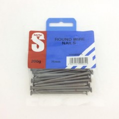 Pre Pack Round Wire Nail 75mm Quantity:200g