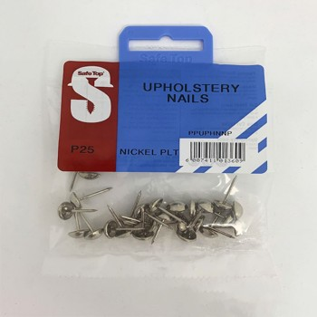 Pre Pack Upholstery Nails Nickel Plated Quantity:25