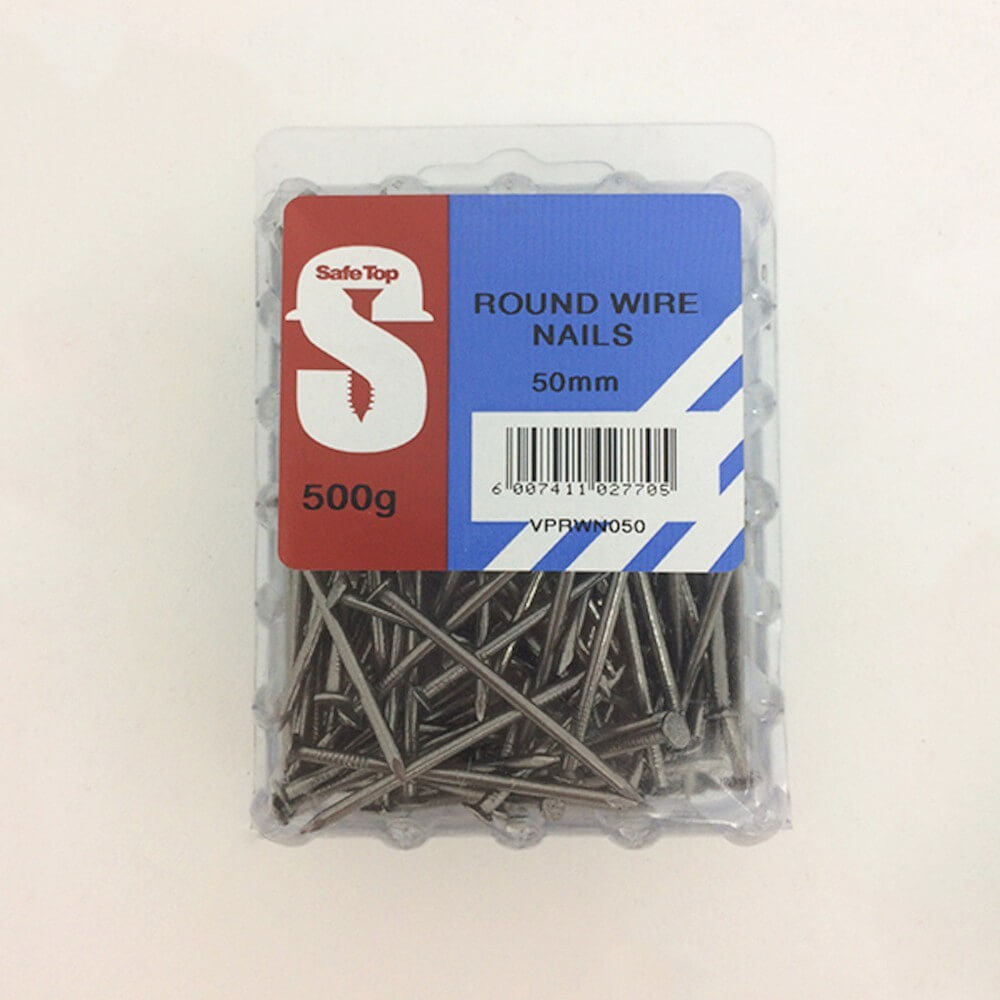 Value Pack Round Wire Nails 50mm Quantity:500g